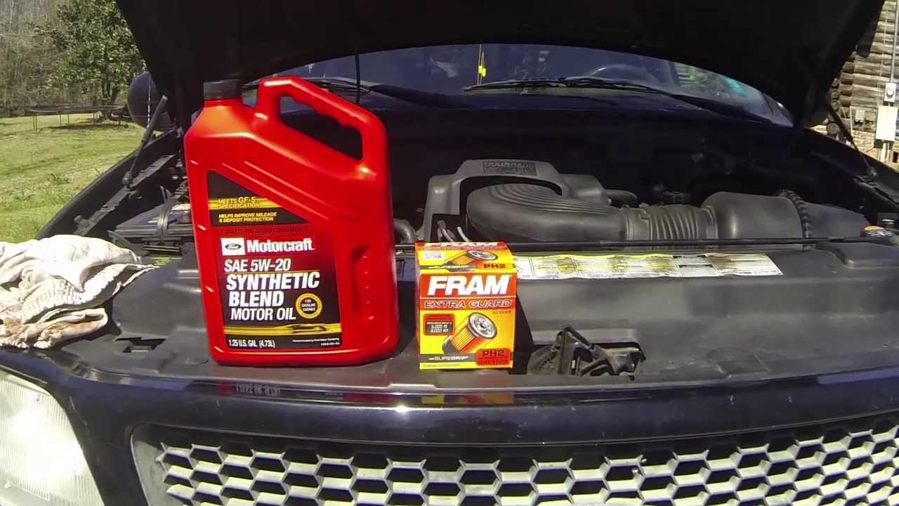 How To Change Engine Oil   L Triton V Youtube Ford F