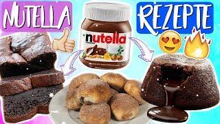 Die besten Nutella Rezepte, die ihr testen müsst! Nutella Lava Cake, Banana Bread & Nutella Churros!