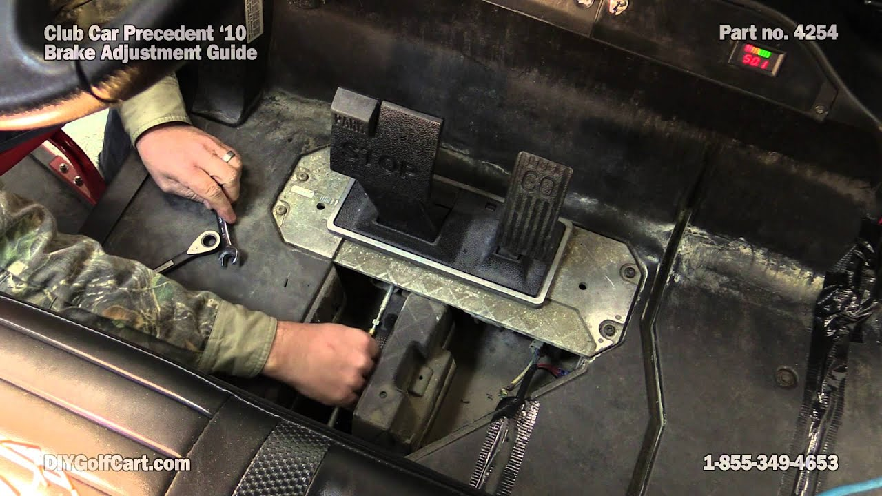 How To Adjust Brakes On A Club Car Precedent Golf Cart Youtube