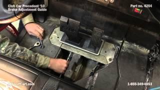 How to Adjust Brakes on a Club Car Precedent Golf Cart