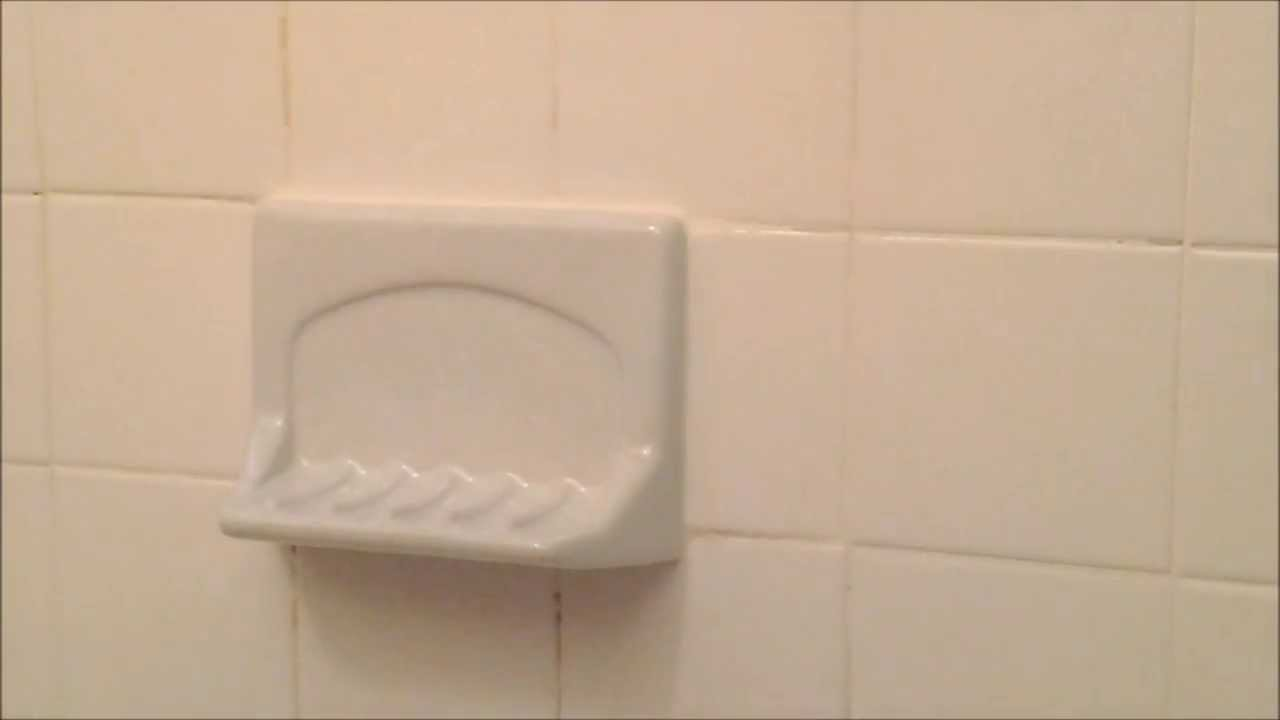 How To Install A Ceramic Soap Dish. - YouTube