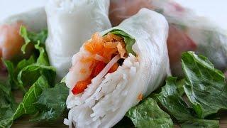 Ω (hd) Asmr / Whisper - Prepping & Eating Gỏi Cuốn ( Vietnamese Rice Paper / Salad Rolls )