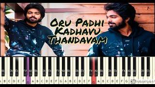 Oru Paadhi Kadhavu   Piano Tutorial   GV Prakash Kumar   Isai Petti   Song Notes In Description