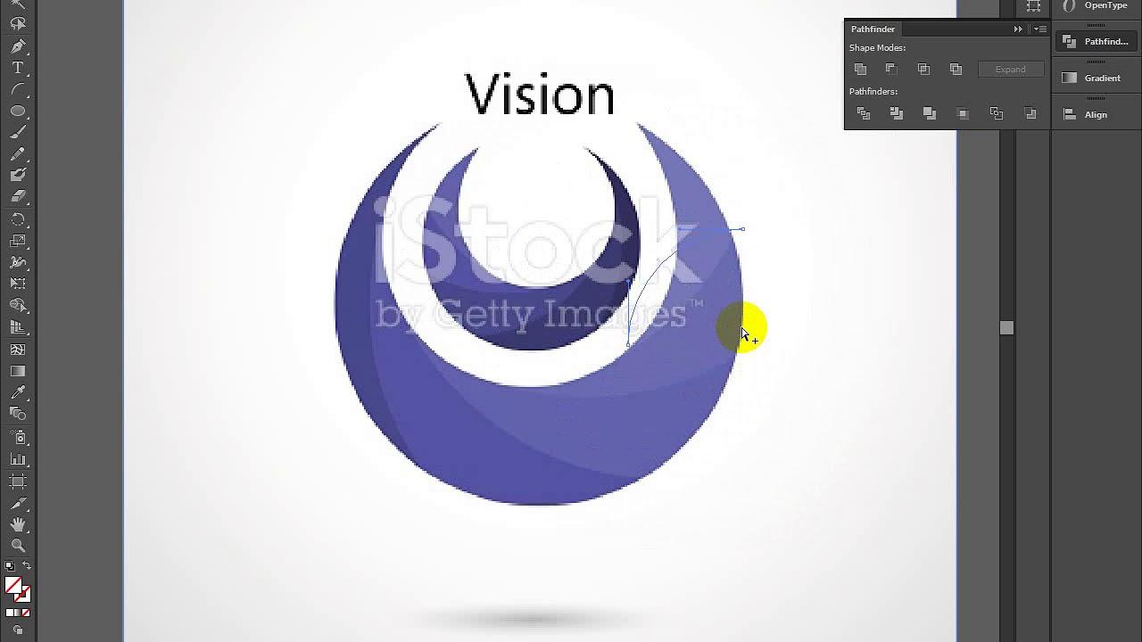 How to Create circle logo Adobe Illustrator CS6 2018 - YouTube