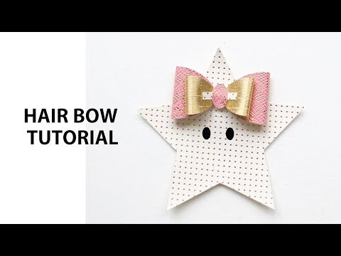 DIY Hair Bow Tutorial SVG DXF Cut File & PDF Download