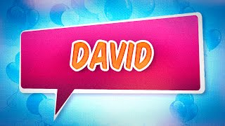 Joyeux anniversaire David