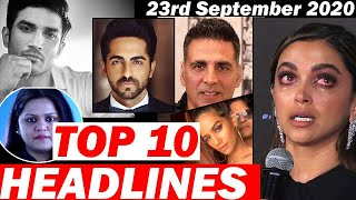Top 10 Big News of Bollywood | 23rdSeptember 2020 |SSR, Salman Khan, Akshay Kumar