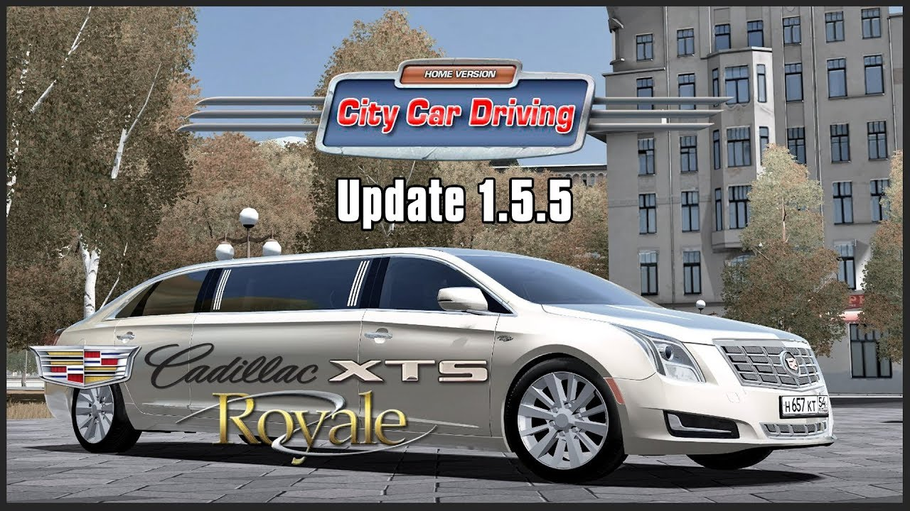 d76e2cea71e City Car Driving 1.5.5 | Cadillac XTS Royale | Logitech G29 + EDTracker Pro  Wireless