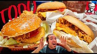 ME COMO TODO EL MENÚ DE KFC | Probando todos los menús de KFC España