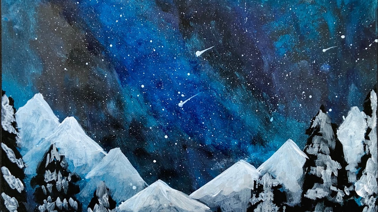 Watercolor Milky Way Painting Demonstration - YouTube