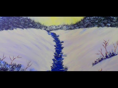 Acrylic Painting Winter Scene For The Absolute Beginner