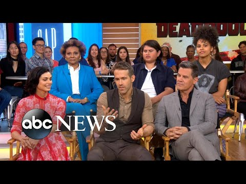 'Deadpool 2' stars dish on the action-packed sequel live on 'GMA'