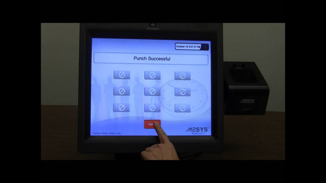 RightPunch™ PC-based Biometric Time Clock - Alternative to Kronos Video #4  (Auto-Punch)