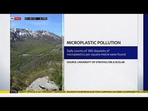 Micro plastic airborne & found in remote areas (Pyrennes