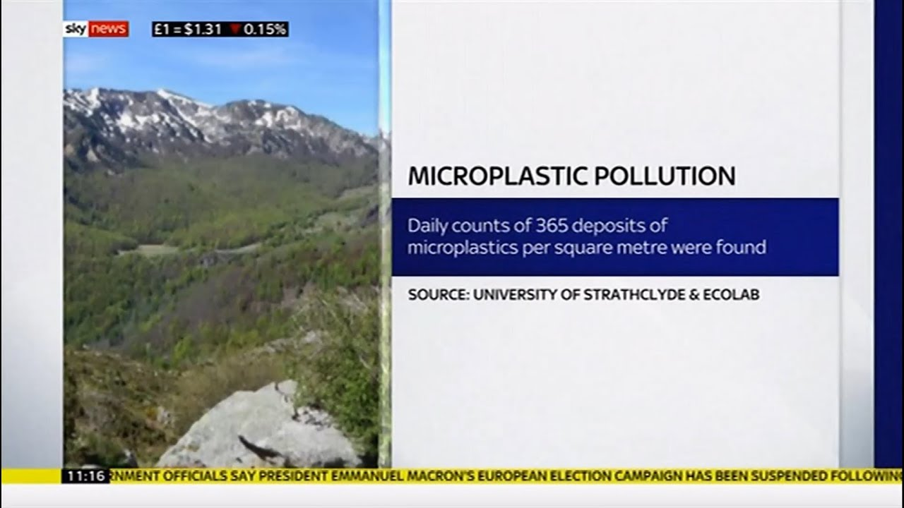 Micro plastic airborne & found in remote areas (Pyrennes/(Global) - Sky  News - 15th April 2019