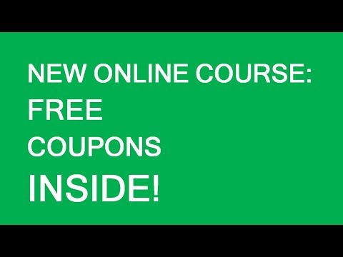 New online course announcement and free coupons!