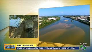 """Nível do Rio Parnaíba cai e """"coroas"""" tomam parte do leito em Teresina"""