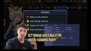 EMULATOR UNTUK FARMING RUBY SEVEN KNIGHTS DAN SETTINGANNYA! SEHARI BISA 1500 RUBY