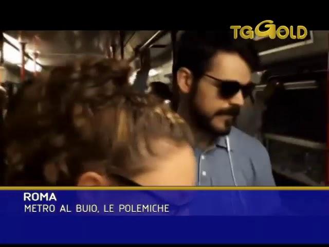 LAZIO TG   ROMA METRO AL BUIO, LE POLEMICHE