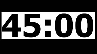 45 Minute Countdown Timer with Alarm