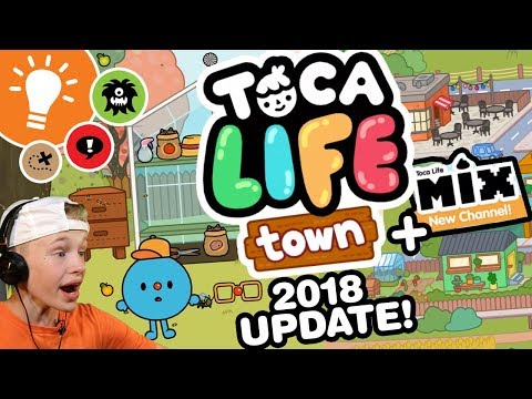 Toca Life: Town 2018 UPDATE!!!! + Toca Life Mix - NEW CHANNEL!