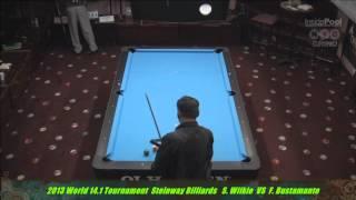 2013 World 14.1 Fransisco Bustamante VS  Shawn Wilkie