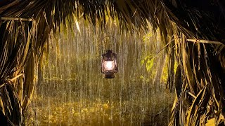 Download lagu Sleep Instantly in Palm Tent with Heavy Rainstorm & Roaring Thunder Sounds in RainForest at Night