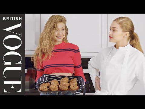 Gigi on Gigi: Baking Yorkshire Pudding with Gigi Hadid | X on X | British Vogue