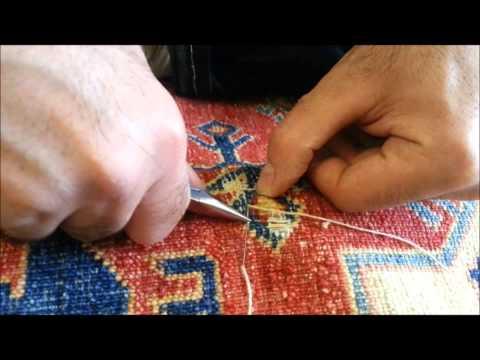 Oriental Rug Repair   Kazak Hole Repair Foundation - Little-Persia
