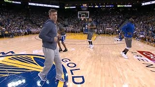 Steph Curry and the GSW team embarrass the 2016 Rookies in front of the entire stadium! (FUNNY)