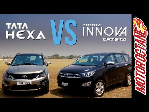 Tata Hexa vs Toyota Innova Crysta Comparison - हिन्दी में  | Motor Octane