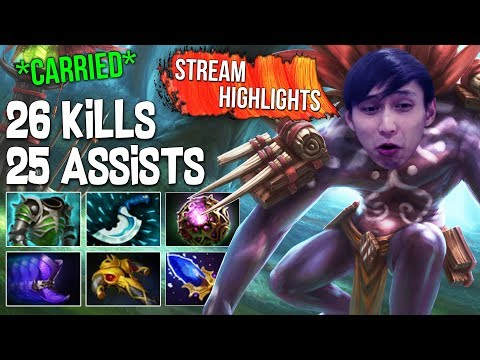 26 Kills 25 Assists Carried With Witch Doctor ◄ SingSing Dota 2 Highlights