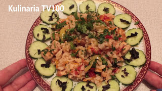 Куриная Грудка с Рисом и Овощами. Как Приготовить Куриную Грудку с Рисом и Овощами.