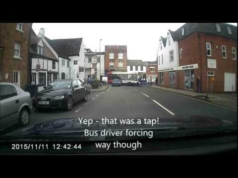 UK idiot drivers Tewkesbury 2015
