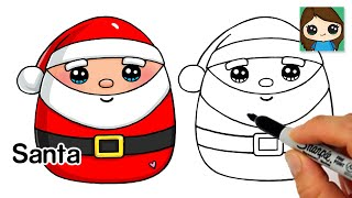 How to Draw Santa Claus Easy  Christmas Holiday Squishmallows
