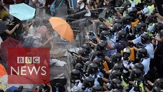 Hong Kong protests: Occupy Central row in 60 seconds - BBC News- BBC News