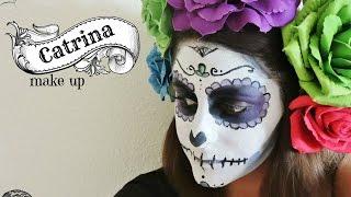 Maquillaje de Catrina para Halloween o Día de los muertos - Catrina make up