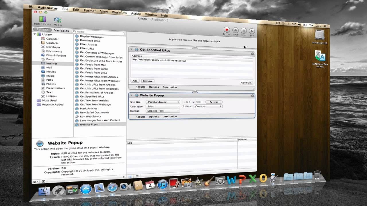Create Web Applications for Mac OS X