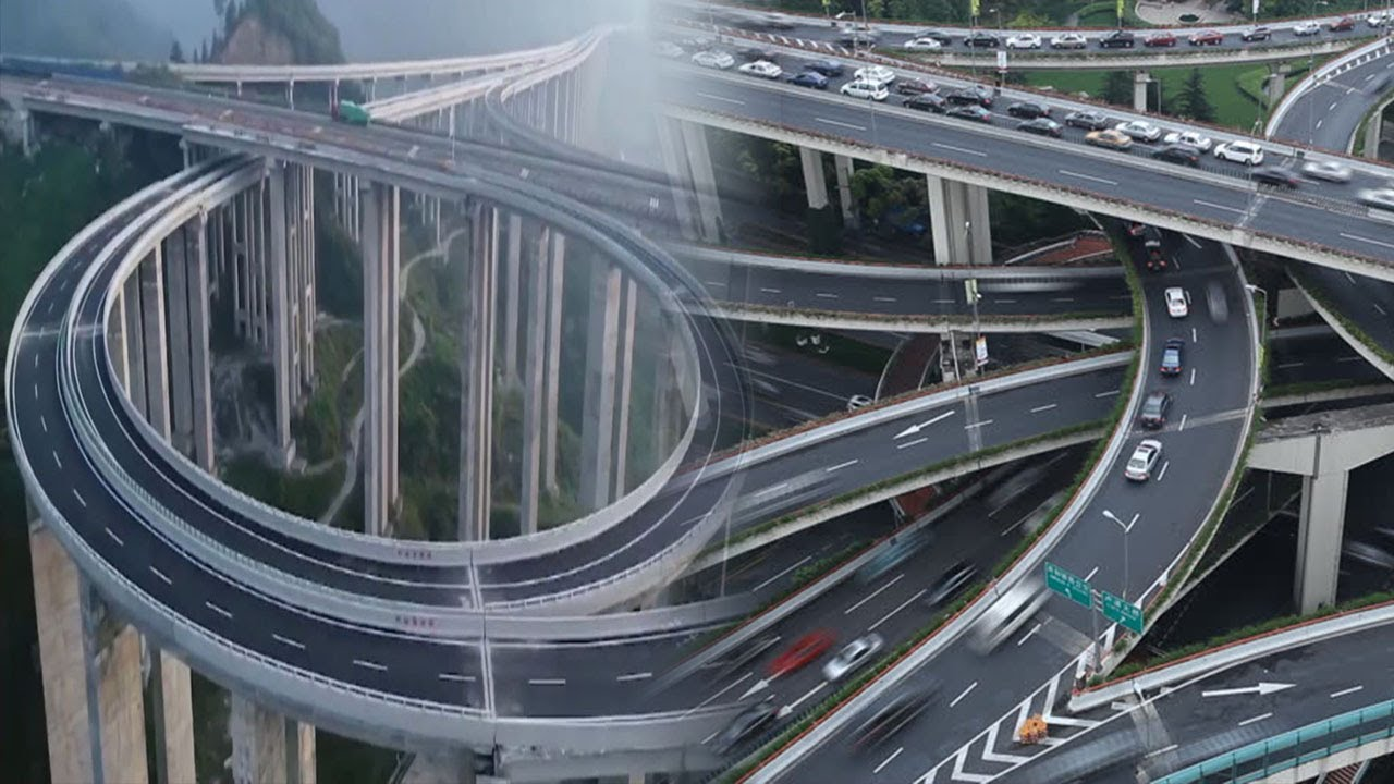 China's Most Breathtaking Mega Highways You Can't Believe - YouTube