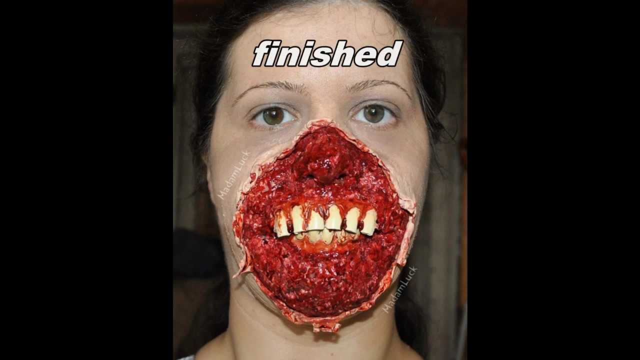 halloween fx makeup facial skin ripped off youtube