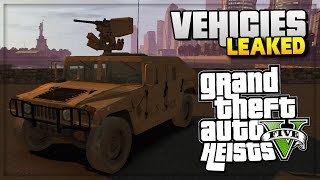 GTA 5 Heist DLC Update - All New Cars Heist/Vehicle Leaked Images! (GTA 5 Online Gameplay)