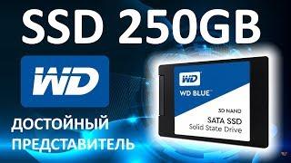 """SSD диск Western Digital Blue 2.5"""" 250Gb SATA III TLC 3D (WDS250G2B0A)"""