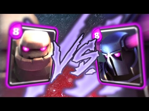 Clash Royale - PEKKA vs. GOLEM MAX ELIXIR BATTLE!!