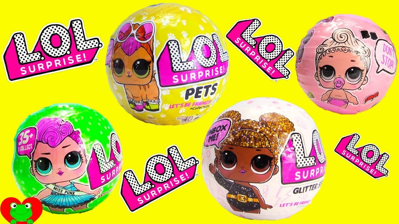 Lol Surprise Pets Dolls Lil Sisters And Glitter Series Youtube