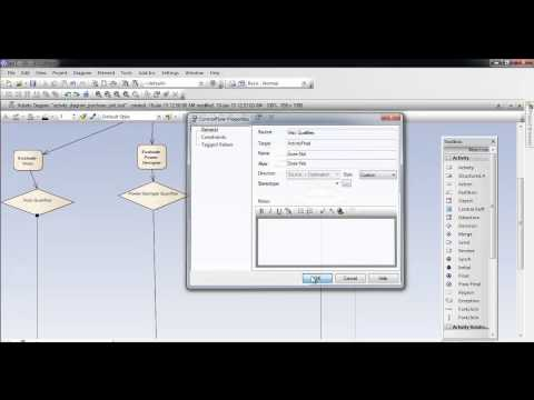 activity diagram using enterprise architect   youtubeactivity diagram using enterprise architect
