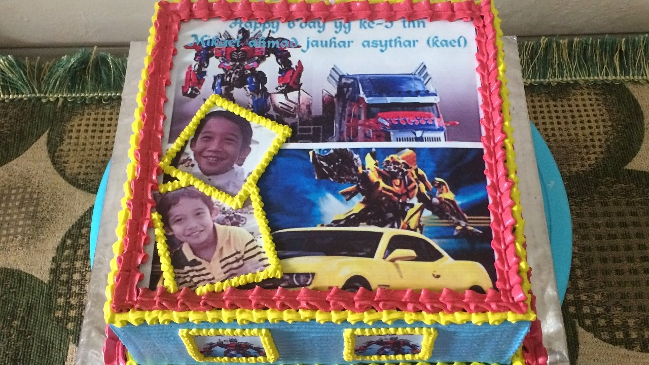 Edible Cake Transformers How to Easy Decorating YouTube