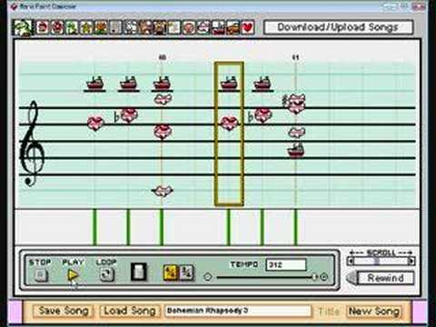 Bohemian Rhapsody Mario Paint Composer