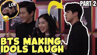 BTS MAKING KPOP IDOLS LAUGH PART 2 / BTS FUNNY MOMENTS