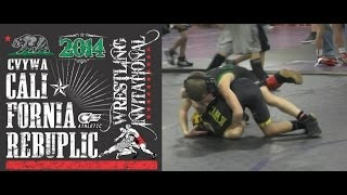 Dominic Bozanic Wrestling at the Jan. 11, 2014 SCWAY California Republic Tournament