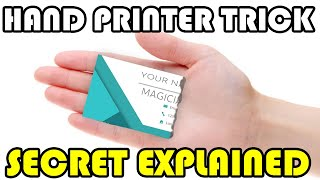 Print Business Cards Magically From Your Hand!
